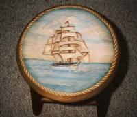 Clipper Ship Stool
