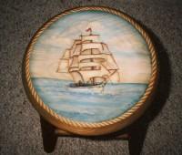 Clipper Ship Stool